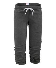 These sweatpants lend a relaxed cut, adjustable waistband and cinching cuffs for fuss-free wear.Size note: This item runs a size small. MJ Soffe recommends ordering one size up.Size S: 25.5''' inseam55% cotton / 45% polyesterMachine washImported