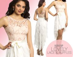 Camille La Vie High Low Lace Tiered short Dress for Summer 2014