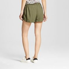 Women's Easy Casual Shorts - Mossimo Supply Co. Olive (Green) Xxl