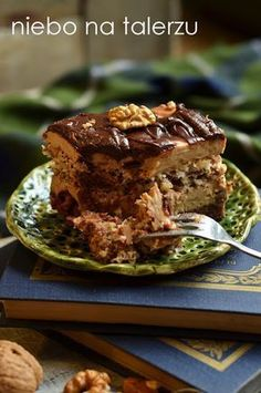 Cake with cream and nuts - heaven on a plate Polish Recipes, Polish Food, Cheat Meal, Food Cakes, Cake Recipes, Cheesecake, Prince, Food And Drink, Sweets