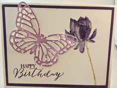 The Stamp Therapists: Stamp a Stack of Birthday Cards Class Projects.  This one uses: Sale a Bration set Lotus Blossom, Sale a Bration Specialty Designer Paper Irresistibly Yours, Occasions Catalog set Butterfly Basics and Butterflies Thinlits Dies (bundle and save)!!  www.stampwithjennifer.blogspot.com