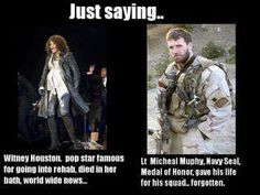 Lt. Michael Murphy...you are gone, but as for me and my house...you will never be forgotten. Funny Military, Military Quotes, Military Life, Military Veterans, Navy Veteran, Military Families, Military History, Michael Murphy, Face Pulls
