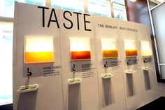 Unconventional Ways to Serve Drinks. In July at Travel & Leisure's annual World's Best Awards in New York, sponsor Patrón displayed a sleek wall that housed five tanks of Patrón. Experiential Marketing, Exhibition Display, Food Displays, Booth Design, Travel And Leisure, Event Design, Awards, Event Marketing, Marketing Plan