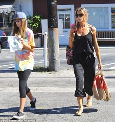Breezy easy day: Denise Richards ventured out to LA's Brentwood Country Mart…