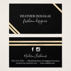 #Modern Lux Stripes Business Card - cyo customize design idea do it yourself