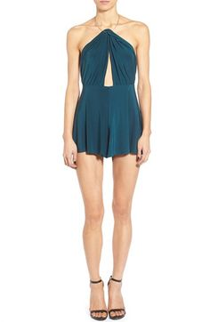 Missguided Slinky Halter Romper available at #Nordstrom
