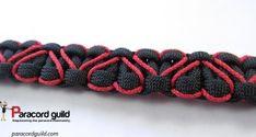 Heart stitch paracord bracelet pattern.