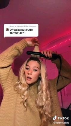 Hair Tutorials For Medium Hair, Curly Hair Tips, Medium Hair Styles, Short Hair Styles, Big Curly Hair, Baddie Hairstyles, Curled Hairstyles, Kawaii Hairstyles, Teen Hairstyles