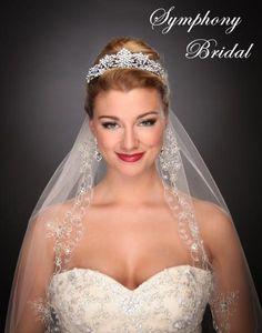 Feel like royalty in this Regal Wedding Tiara by Symphony Bridal 7504CR - Affordable Elegance Bridal -