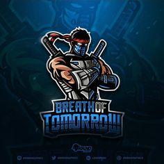 "✨ New Ninja-Samurai mascot logo for guys from - ""Breath of Tomorrow"" team ⚔️ Hope you enjoy this one! 😉🤙 Thanks for any feedback :) Ninja Logo, Spartan Logo, Esports Logo, Behance, Game Logo, Vector Photo, Logo Images, Swords, Samurai"