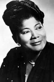 Mahalia Jackson  gospel singer; another Soul Queen.