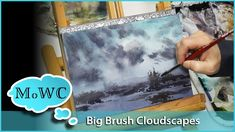 Big brushes like Hakes are great for watercolor clouds and cloudscapes. Here are two demos using Hakes. Previous Video on the Hake and the John Sal. Watercolor Clouds, Watercolor Video, Watercolour Tutorials, Watercolor Artists, Watercolor Landscape, Watercolor Paintings, Watercolours, Dry Brush Technique, Dry Brushing