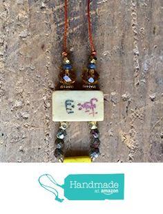 ART::WEAR Necklace by Cherie Lester, Vintage Mahjong, Czech Crystal & Brass Beads on Genuine Orange Leather Cord. from ART::WEAR Necklaces by Cherie Lester https://www.amazon.com/dp/B01NBIYKQ5/ref=hnd_sw_r_pi_dp_8stHyb1B5QGVP #handmadeatamazon
