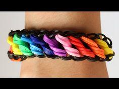 ▶ Loom Bands Nederlands - Rotini tutorial - Rainbow Loom    how to, tutorial, loom bands - YouTube