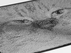 CNC halftones with ASCII art
