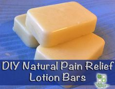 How To Make Homemade Pain Relief Lotion Bars