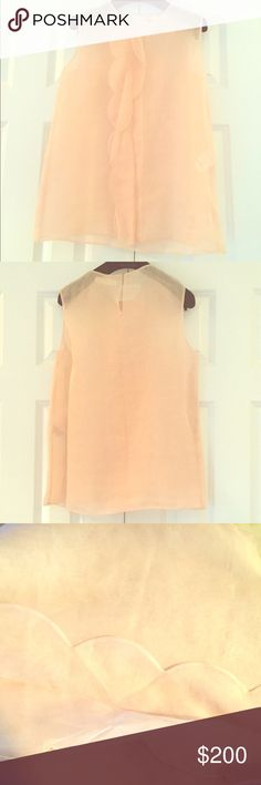 Chloe Blouse Pale pink, no-sleeved blouse. Sheer. Never worn. Made in France. Shell: 100% silk. No lining Chloe Tops Blouses