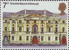 European Architectural Heritage Year 7p Stamp (1975) Charlotte Square, Edinburgh