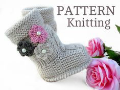 P A T T E R N Baby Booties Baby Girl Shoes Pattern por Solnishko43