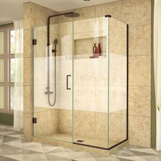 Buy the DreamLine Brushed Nickel Direct. Shop for the DreamLine Brushed Nickel Unidoor Plus 30 in. W x 30 in. D x 72 in. H Hinged Shower Enclosure, Half Frosted Glass Door, Satin Black Hardware Finish and save. Corner Shower Doors, Corner Shower Enclosures, Frameless Shower Enclosures, Frameless Shower Doors, Frosted Glass Door, Glass Doors, Black Shower, Thing 1, Shower Tub
