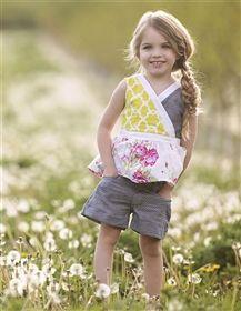 Persnickety Clothing - Daffodils & Dandelions Hazel Short in Blue