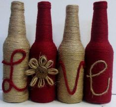 60 DIY Glass Bottle Craft Ideas for a Stylish HomeIn the past, bottles were only pretty and useful when they are of good shape. I recall collecting unique perfume bottles Continue reading Glass Bottle Crafts, Wine Bottle Art, Diy Bottle, Glass Bottles, Bottle Lamps, Beer Bottle, Vodka Bottle, Twine Wrapped Bottles, Twine Bottles