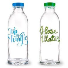 Cute glass water bottles