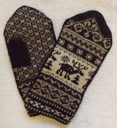 Norwegian hand crafted 100 Wool Mittens XXL by NordicStarStudio, 27.00