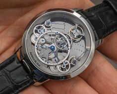 """Arnold & Son Time Pyramid Translucent Back Watch Hands-On - by Ariel Adams - A different look on the other side for once. More at: aBlogotWatch.com """"Would you like for me to remind you what the biggest issue is on watches with fully skeletonized dials and movements? It is that you can often see right through to your own skin and arm hair. Yes, those sexy-looking timepieces with skeletonized movements and dials can seem amazing in theory (and pictured alone), but place them on your wrist..."""""""