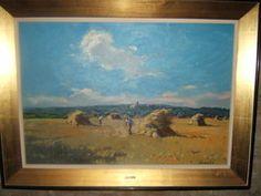 """Para el pintor paisajista Alfons Gubern Campreciós el color azul era la luz, la vida, la claridad, es decir, TODO.Se vende """"Castellar Vell"""", de Alfons Gubert i Campreciós. Óleo sobre tela. Medidas: 77 x 55 cm. Marco de 86 x 63 cm (http://www.pintorscatalans.cat/ca/cataleg/alfons-gubern-i-camprecios/n-010-castellar-vell/)."""