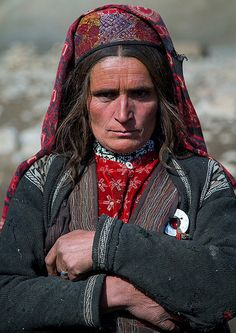 Wakhi nomad woman, Big pamir, Wakhan, Afghanistan | by Eric Lafforgue