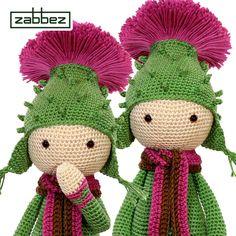 Thistle Tim flower doll crochet pattern - amigurumi - design and pattern by Zabbez