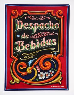 Gustavo Ferrari filete porteño Vintage Typography, Typography Letters, Hand Lettering, Sign Writing, Airbrush Art, Pinstriping, Arte Popular, Sugar And Spice, Tango