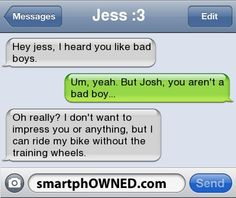 i heard you like bad boys, I ride my bike without training wheels! xD haha this is hilarious
