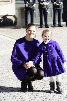 misshonoriaglossop:  Princess Estelle with mom Crown Princess Victoria, March 12, 2015