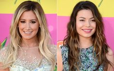 Kids' Choice Awards inspire-se nos penteados das famosas! Kids Choice Awards 2013, Miranda Cosgrove, Ashley Tisdale, Children, Inspiration, Brown Hair Blonde Highlights, Types Of Hairstyles, Straight Hair, Celebrity
