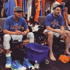 Stephen Curry and Klay Thompson