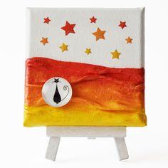 Attention (Figyelem) - 10 x 10 cm (10 x 14 cm), 2018 #paverpol #textile #textil #acrylic #akril #vivienholl #stars #csillagok #cat #macska #night #éjszaka Techno, Snoopy, Fictional Characters, Art, Africa, Art Background, Kunst, Performing Arts, Fantasy Characters