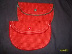 Small Clutch Purse Set of 2 Red & White by MadewithLovebyDeena, $18.00