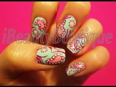Paisley Inspired - Nail Art | iBeautyBoutique