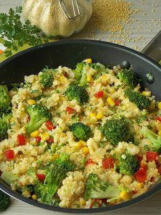 Kasza jaglana z brokułem – KuchniaMniam Baby Food Recipes, Diet Recipes, Vegetarian Recipes, Cooking Recipes, Healthy Recipes, Healthy Dishes, Food Dishes, Healthy Eating, B Food