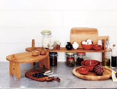 I just love the JAH Anti-pasti platter at the back which I use to give me more room on the table when having everyone round. Most of the JAH wood products are made from American Oak and you can keep it in good nick by just rubbing in a bit of veg oil every now and then!
