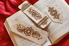 Handmade Henna Bookmarks