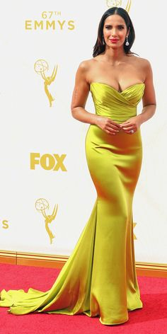 Emmys 2015 Red Carpet Arrivals - Padma Lakshmi - from InStyle.com