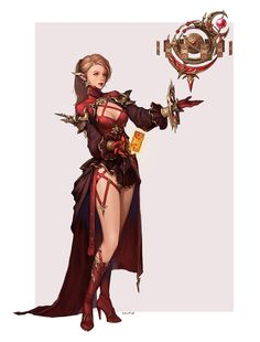 Final Fantasy 14 Astrologian Original concept, bom Yeon on ArtStation at https://www.artstation.com/artwork/qvgPz
