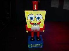 Classic SpongeBob Squarepants Steven Hillenburg Design Wooden 12inch Statue Circa 2006 Only $50.