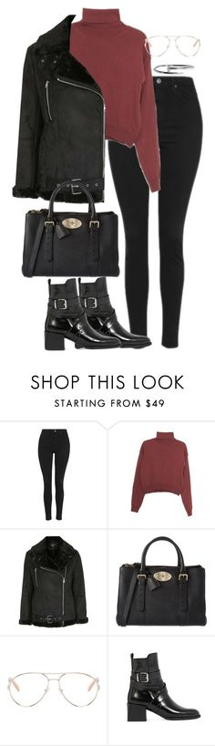 """Sin título #390"" by silviasalo on Polyvore featuring moda, Topshop, Wood Wood, Mulberry y Chloé"