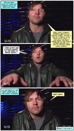 Dean has a trick or two of his own up his sleeve (and possibly a fork..) #deanambrose #AmbroseVsWyatt #bringit
