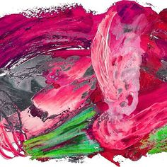 abstract painting with pink