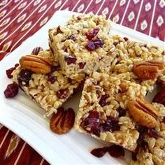 Cranberry Trail Bars | 'Great recipe as is. Toasting the seeds and coconut really made bars pop! I will make again.""